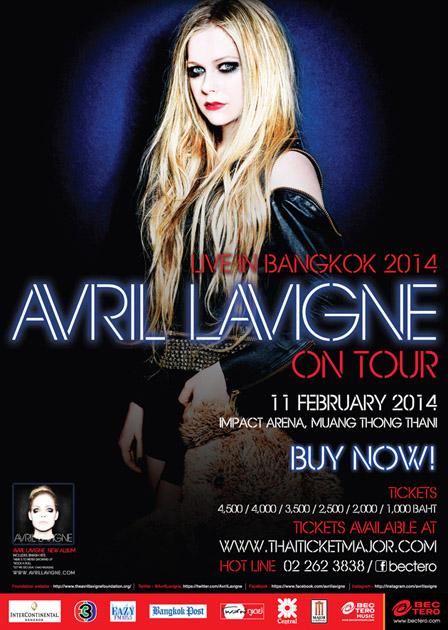 アヴリル・ラヴィーン・ライブ in バンコク2014のフライヤー